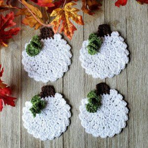 White Pumpkin Coasters